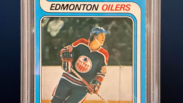 Wayne Gretzky 1979 O-Pee-Chee card that sold for $3.75M at Heritage Auctions.