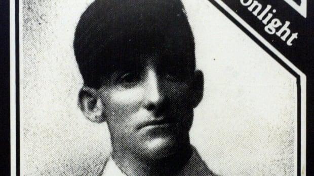 """1905 baseball card of Archibald """"Moonlight"""" Graham."""