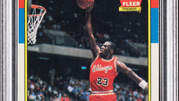 1986 Fleer Michael Jordan rookie card available at Collect Auctions.