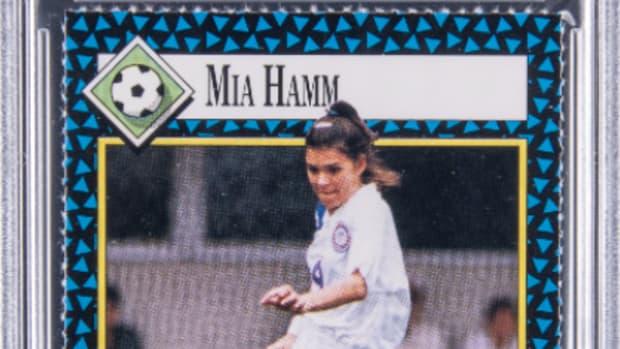 1992 S.I. For Kids Mia Hamm rookie card.