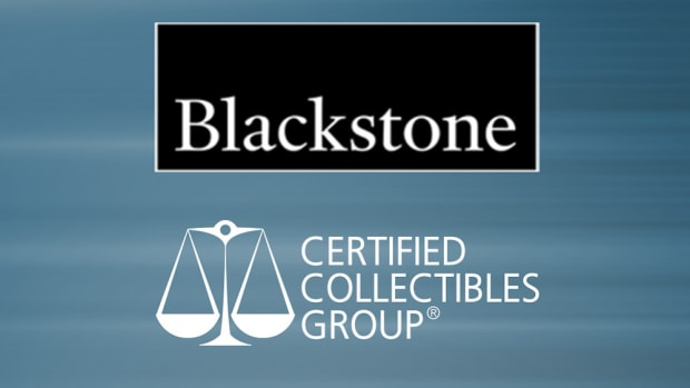 The new logo for Certified Collectibles Group, which was purchased by Blackstone.