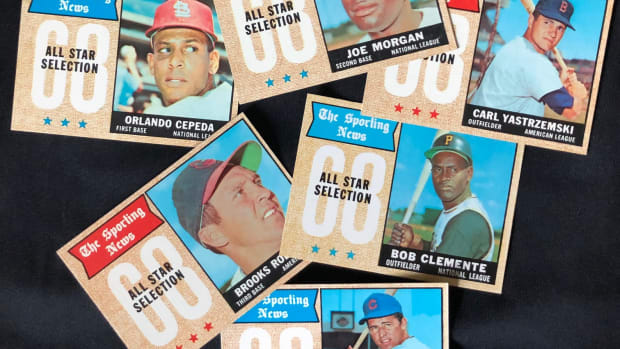 1968 Topps Sporting News All-Star cards.
