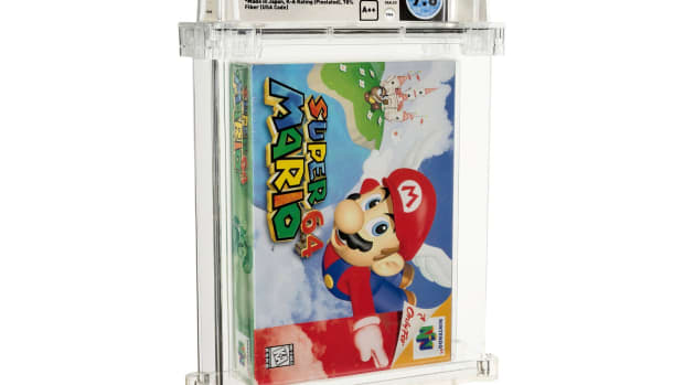 A Super Mario 64 game graded by Wata Games sold for $1.56 million.