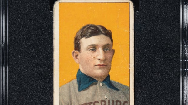 A T206 Honus Wagner card graded SGC 3 is up for bid at Robert Edwards Auctions.
