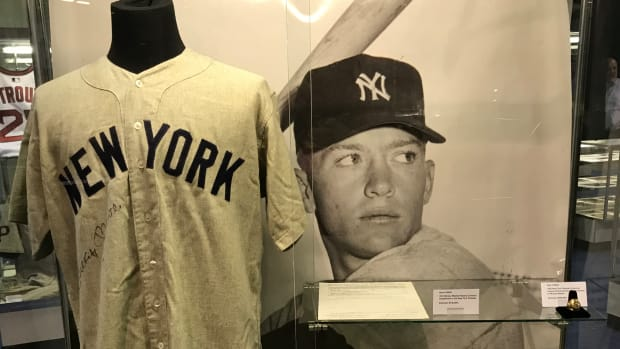 Mickey Mantle exhibit at Heritage Auctions.