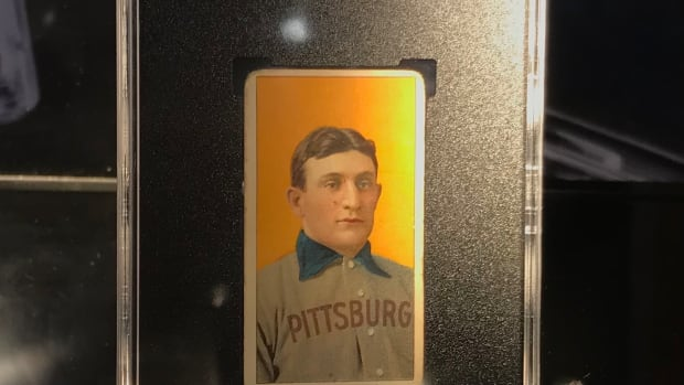 A T206 Honus Wagner card, graded SGC 3, is up for bid at Robert Edward Auctions.