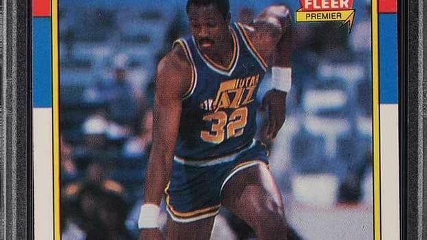 1986 Fleer rookie card of Karl Malone.