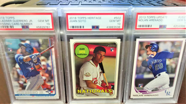 Topps baseball card collector Bob Lewis has collections of vintage and modern cards.