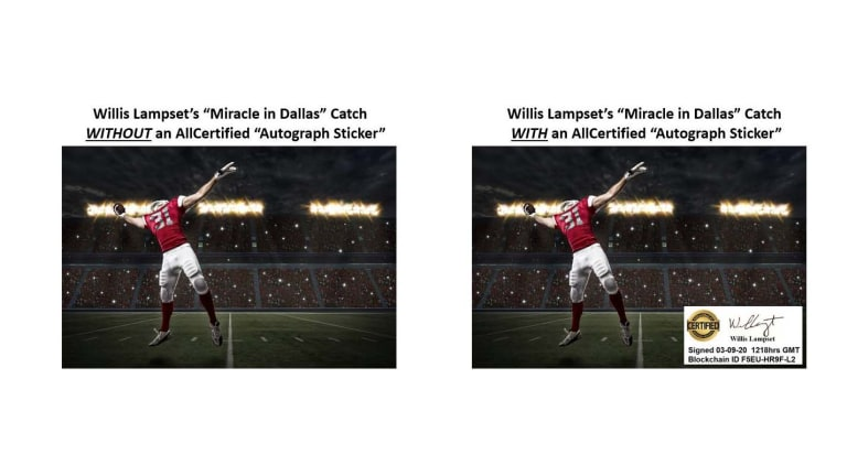 New NFT technology would allow athletes, card companies to affix autographs to digital cards