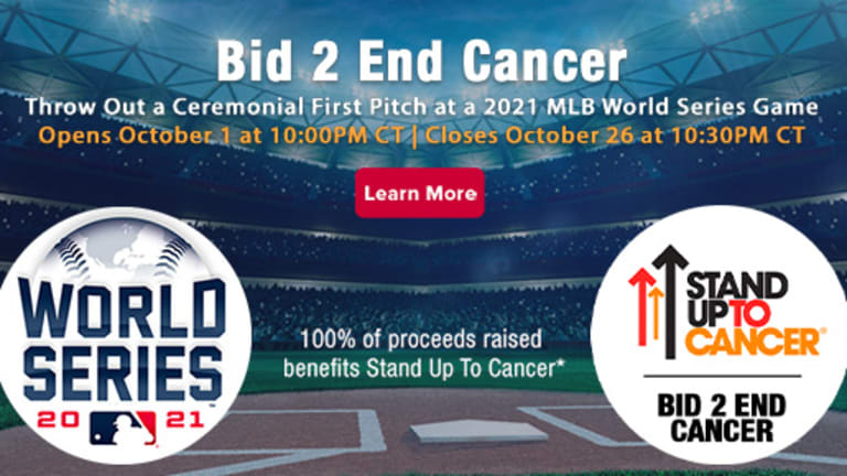 How to throw out the first pitch at the 2021 World Series and raise money for Stand Up To Cancer