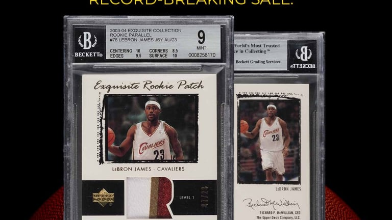 LeBron James matches Mickey Mantle for highest selling sports card of all-time