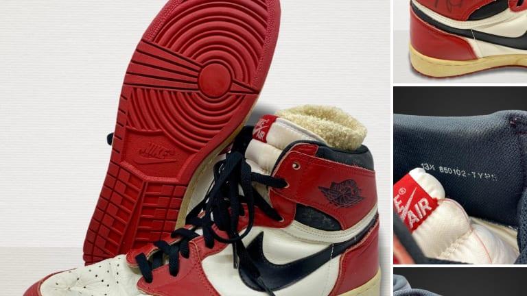 Michael Jordan's rookie Air Jordans open at $118K in Gray Flannel auction