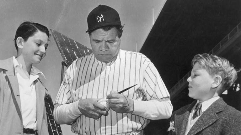 1929 Babe Ruth ball comes with rare video of Babe signing autograph, slugging home run