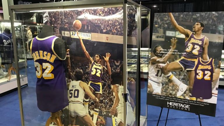 Signed Magic Johnson jersey, Michael Jordan shoes top $25M Heritage Summer Auction