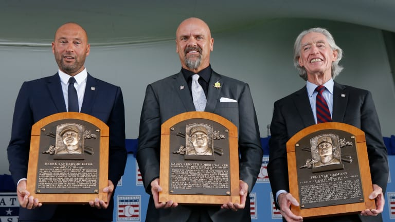 For Derek Jeter, Larry Walker and Ted Simmons, Hall of Fame induction was worth the wait