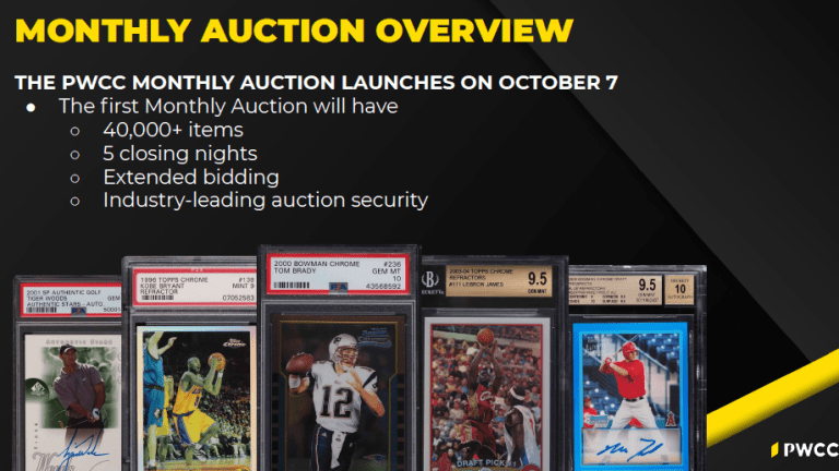 PWCC launching new Monthly Auction with fast-paced extended bidding