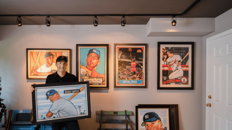 Noted artist James Fiorentino recreates 'Most Iconic Trading Cards of All Time' in new exhibit