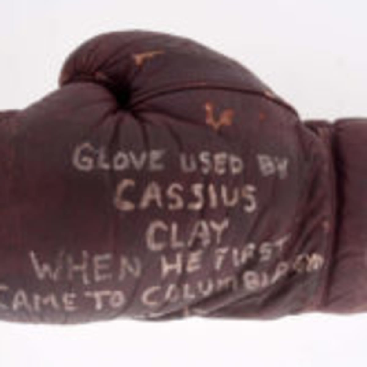 Title Boxing Collector/'s Muhammed Ali Autograph Leather Boxing Gloves Brown