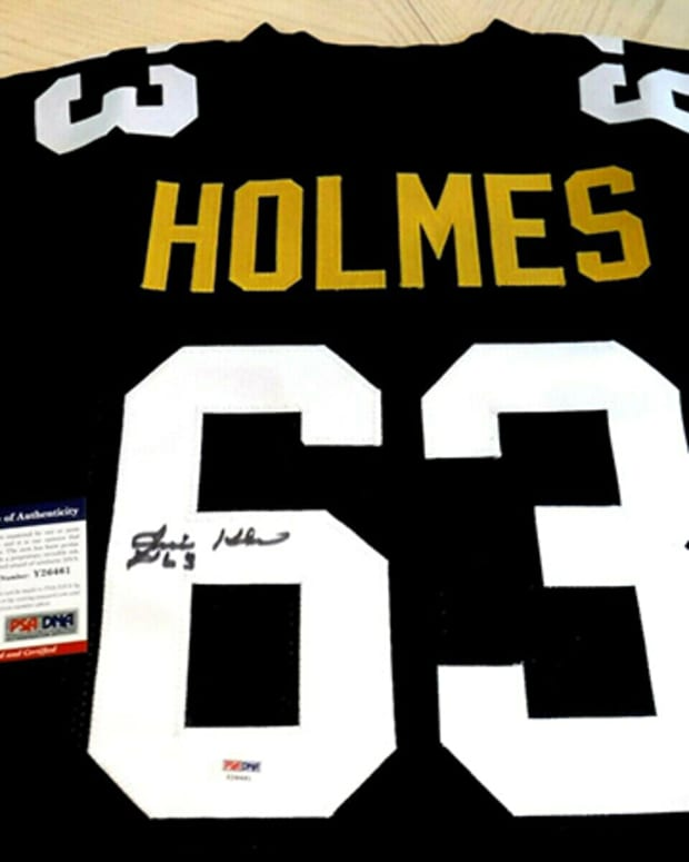 Ernie Holmes rare signed Jersey from MD's Sports Connection