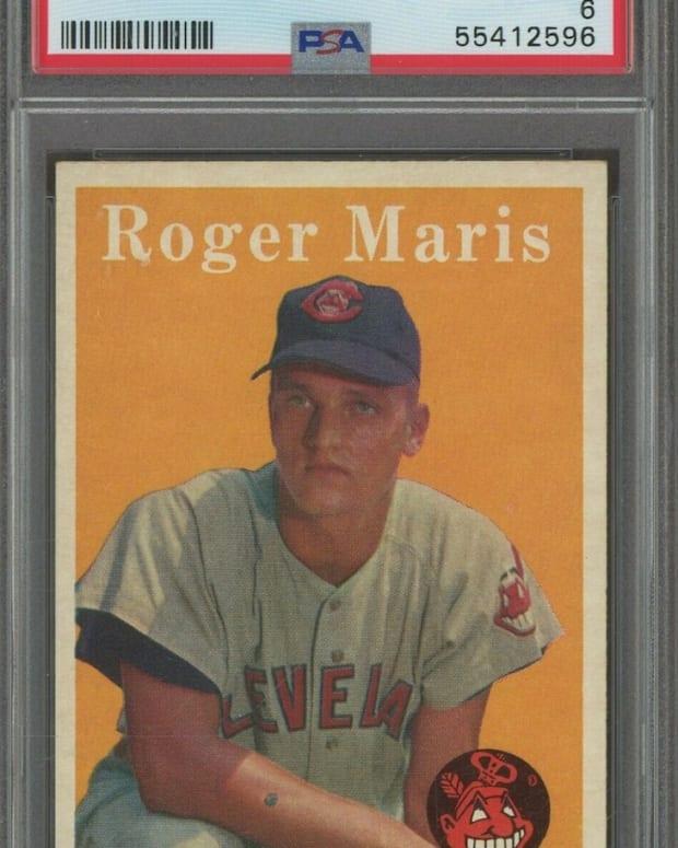 1958 Topps Roger Maris card.