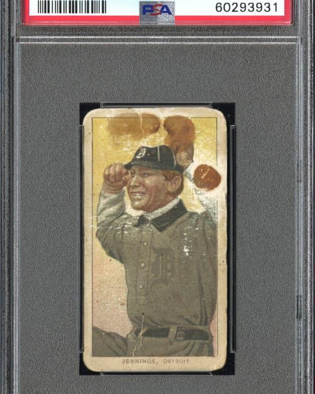 T206 Lenox Brown Hughie Jennings card.