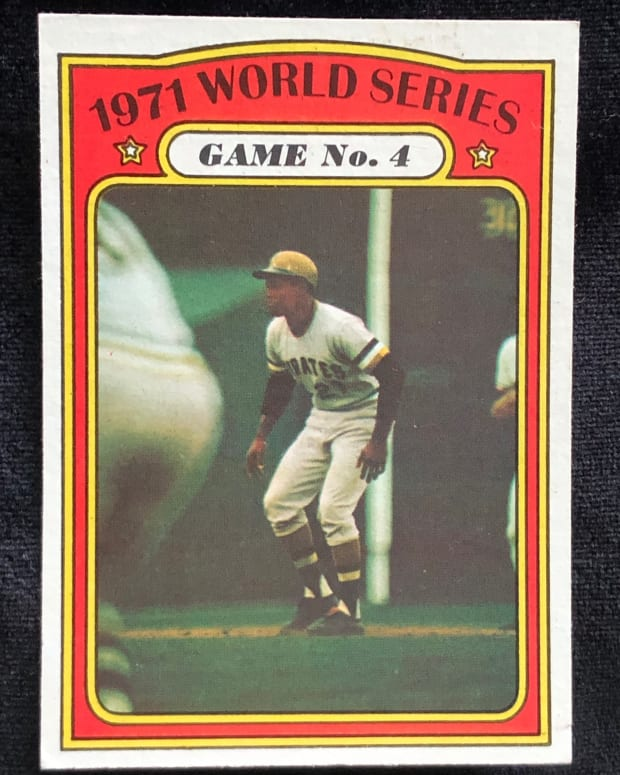 1972 Topps card of Roberto Clemente from 1971 World Series.