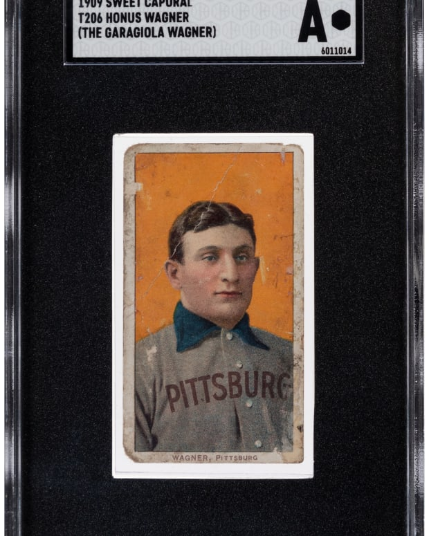 Heritage Auctions sold T206 Honus Wagner card for a record $2.5 million.