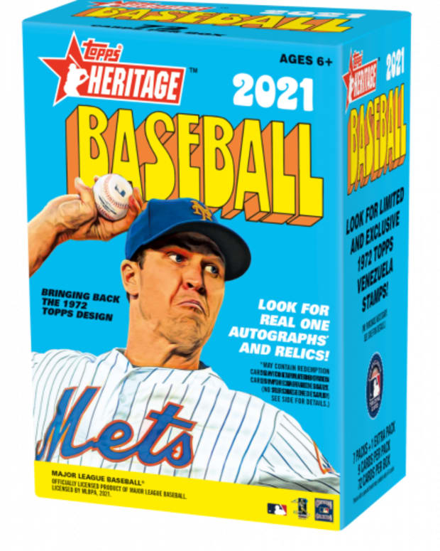 The Topps 2021 Heritage Baseball set is modeled after 1972 cards.