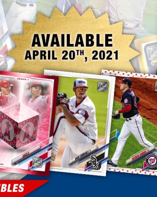 Topps Baseball Series 1 will feature the first collection of MLB NFT digital collectibles.