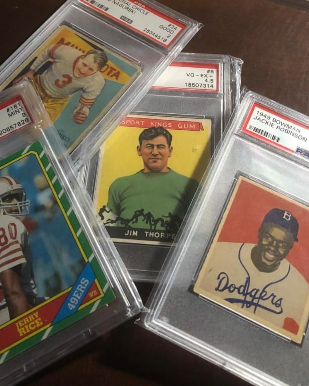 Collector Bart Bartholomew's collection, graded by PSA.