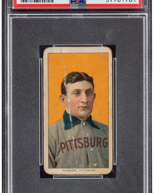 A T206 Honus Wagner, graded 1.5, set a record for its grade at Heritage Auctions.