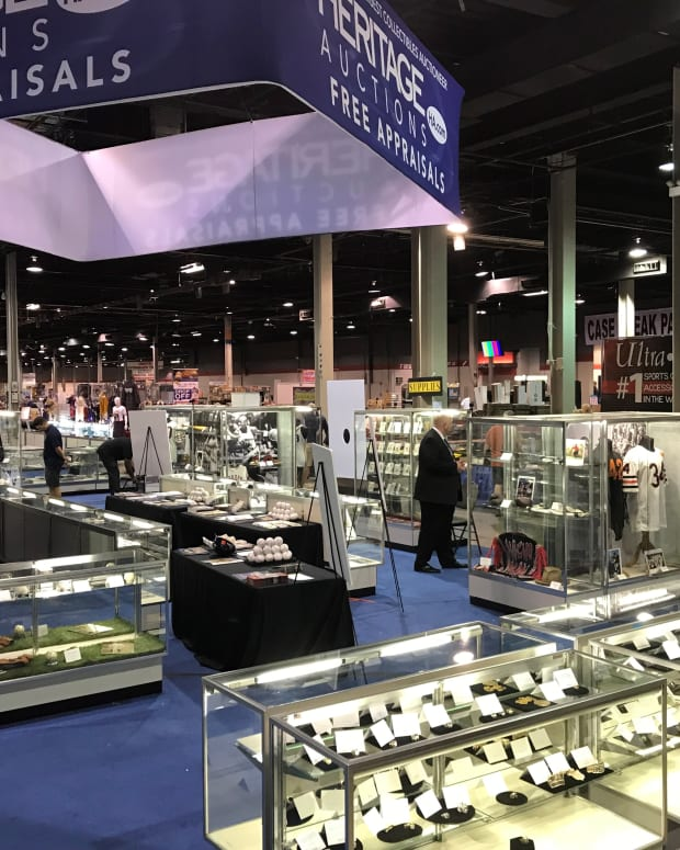 Heritage Auctions' display case at the 2019 National.