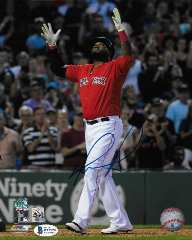 "Signed photo of David ""Big Papi"" Ortiz."
