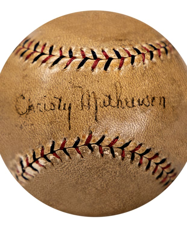 Baseball signed by Christy Mathewson, Babe Ruth and Lou Gehrig up for auction at Gotta Have Rock and Roll.