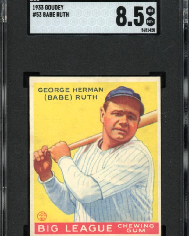 1933 Goudey Babe Ruth card up for bid in Memory Lane's Fall Rarities Auction.
