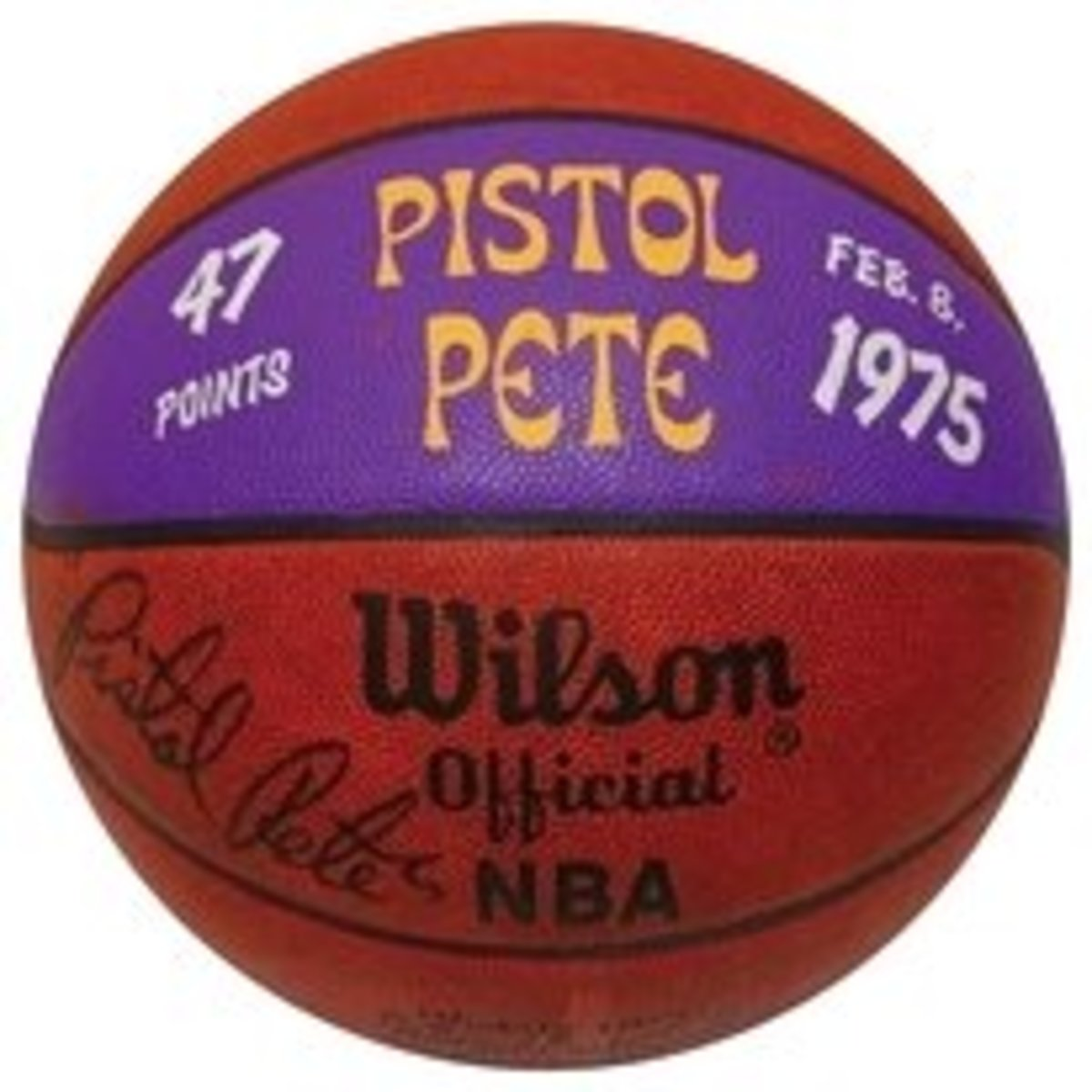 Pete Maravich 47 points ball 1975