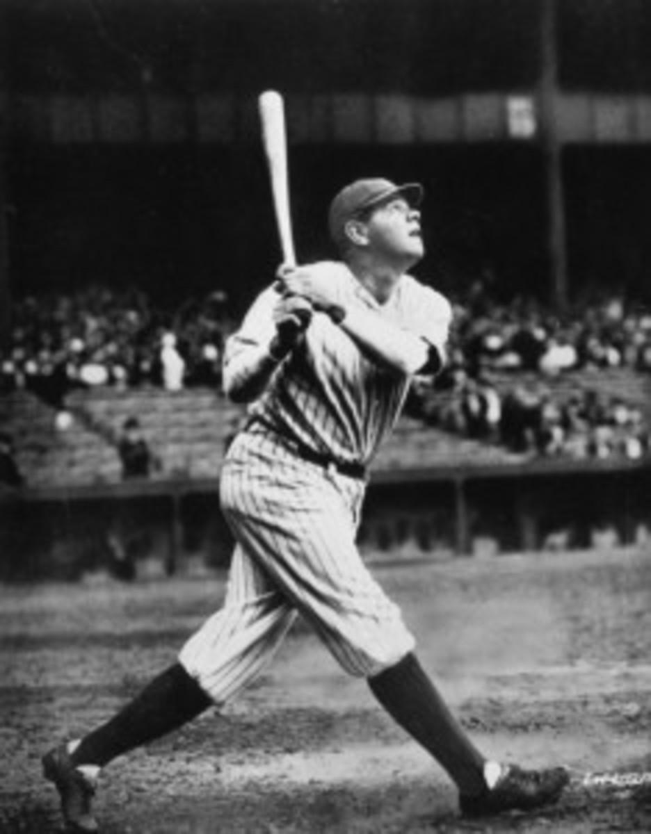 Babe Ruth Swinging