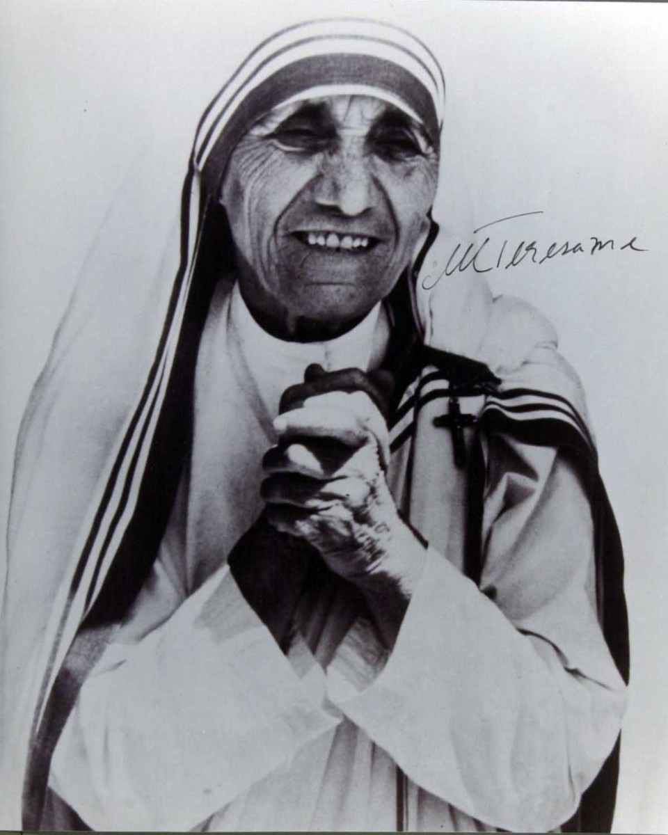 Who authored this Mother Teresa fake? FBI investigators never found out for certain.