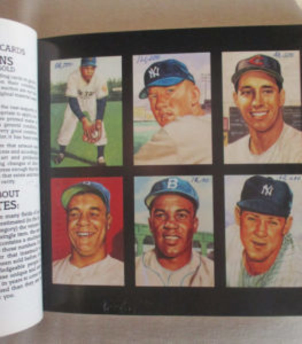 Six paintings used to create the 1953 Topps Baseball card set sold for $372,300. (Image from auction catalog)