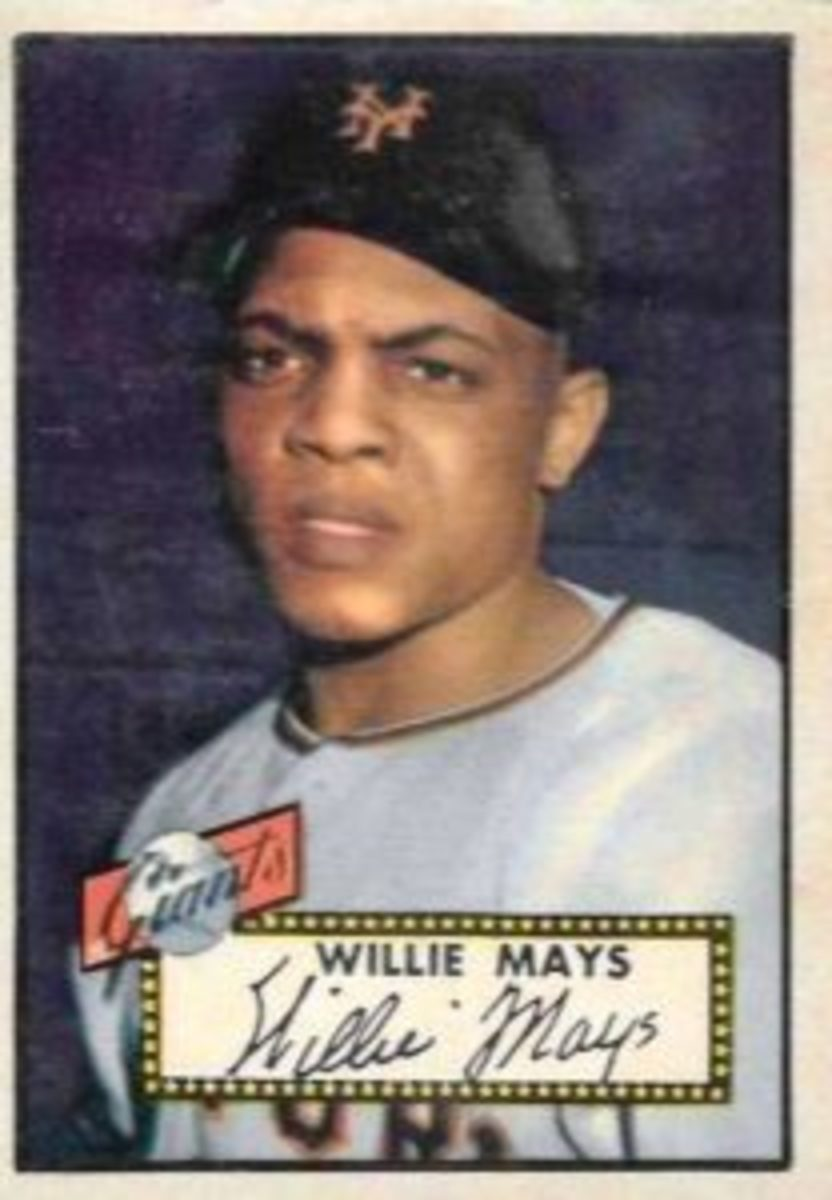 Willie Mays first appeared with Topps in 1952, thanks to Sy Berger's initiative.