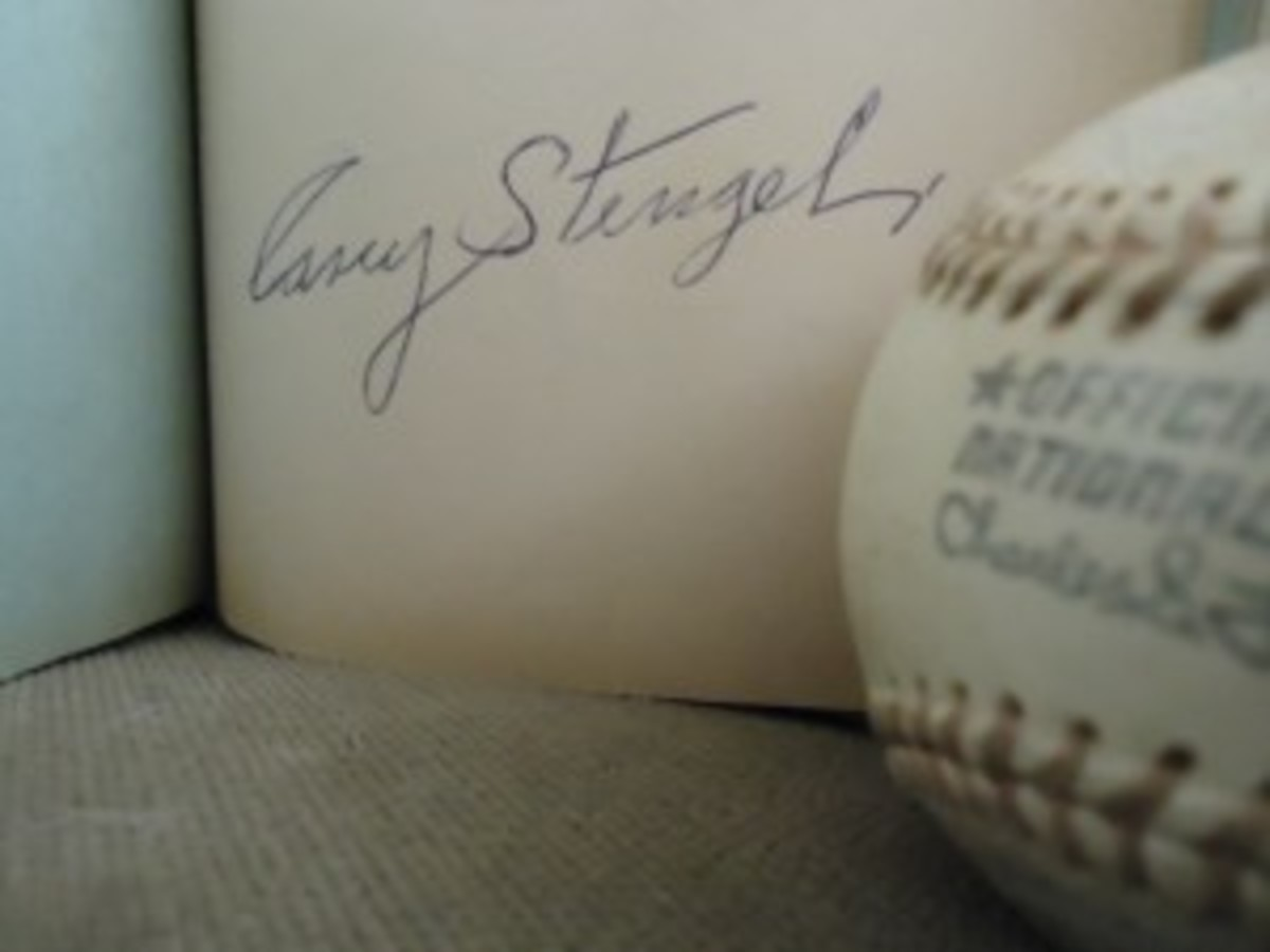 He was hard to miss holding court in the lobby of the Statler Hilton in Cleveland. Yet Casey Stengel still took the time to answer the autograph advances of the author at age 13. Much of the encounter was captured by a reporter for the Cleveland Press in the next day's paper, including Stengel's memorable quote.