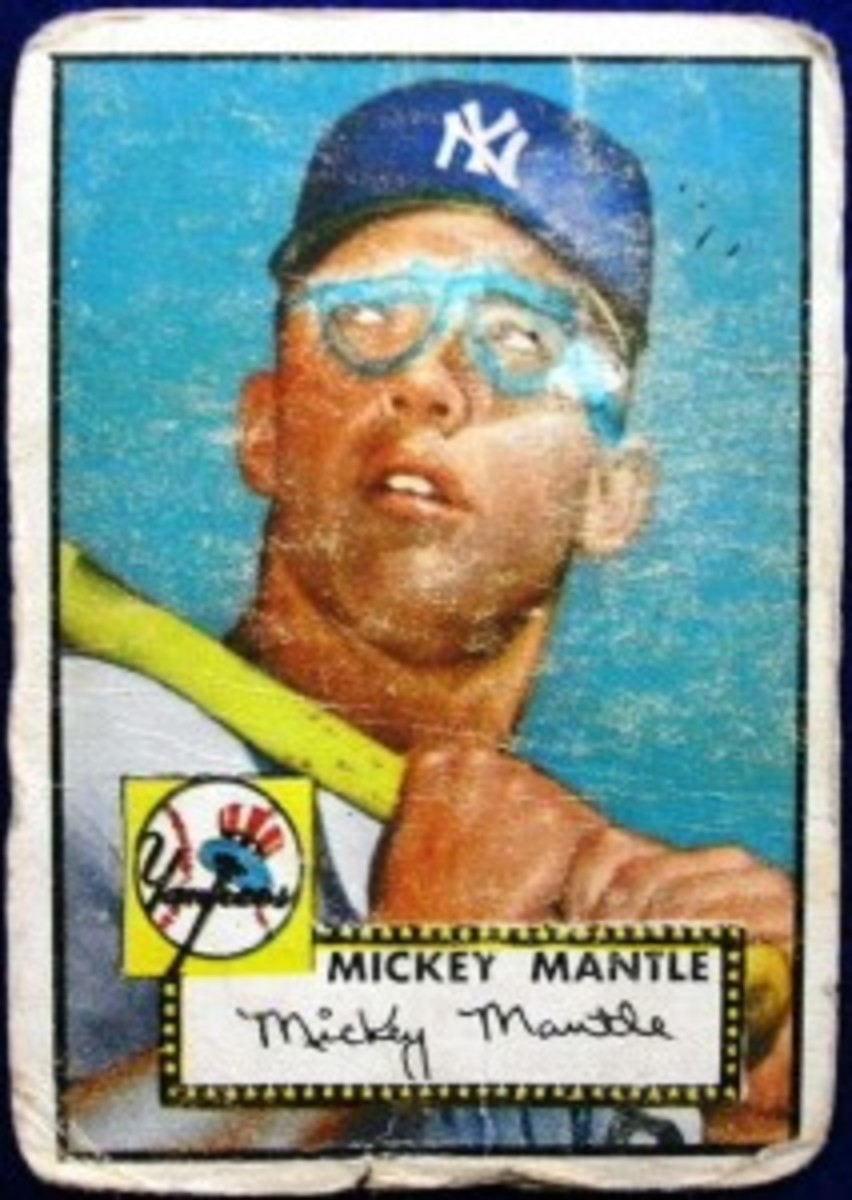 1952 Topps 311 Mickey Mantle, courtesy ebay photo