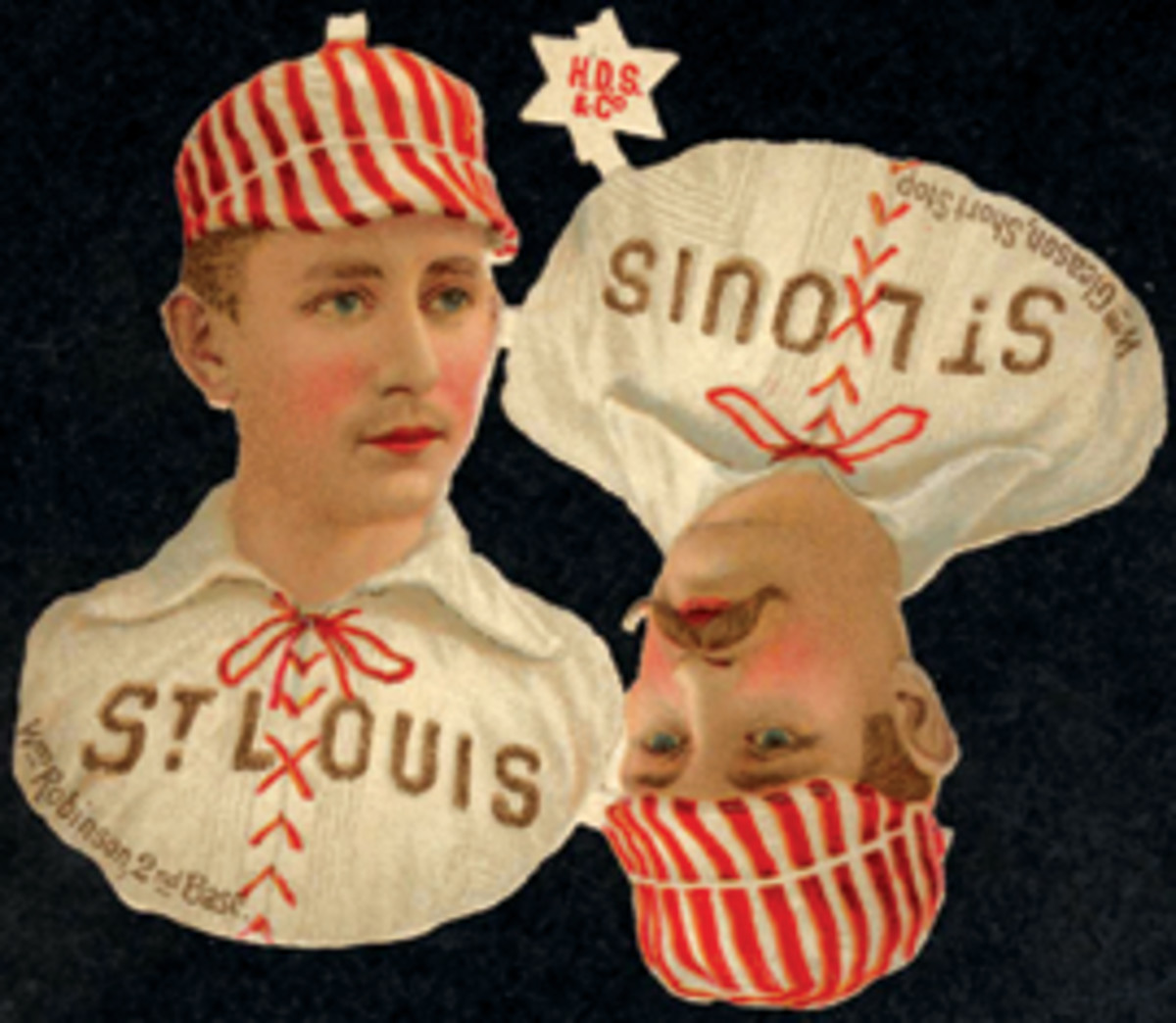 These 1888 Scrapps cards are still attached, something not seen in this hobby, according to Memory Lane.