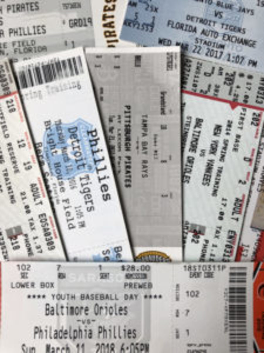 It is best to purchase tickets to Spring Training games prior to your trip to Spring Training to guarantee you'll have a ticket to the games.
