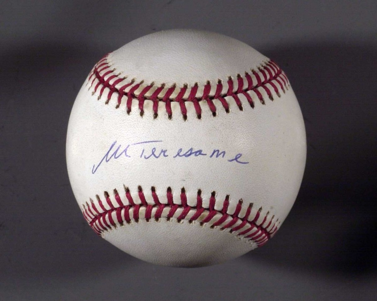 The Mother Teresa baseball, perhaps the most famous autograph forgery ever done.