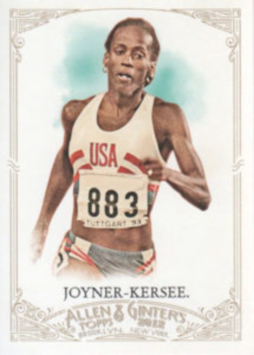 Topps issue of Olympic track star Jackie Joyner-Kersee.