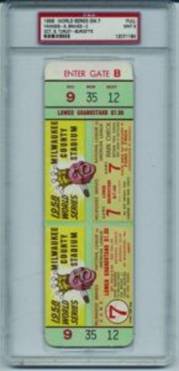1958 World Series tix