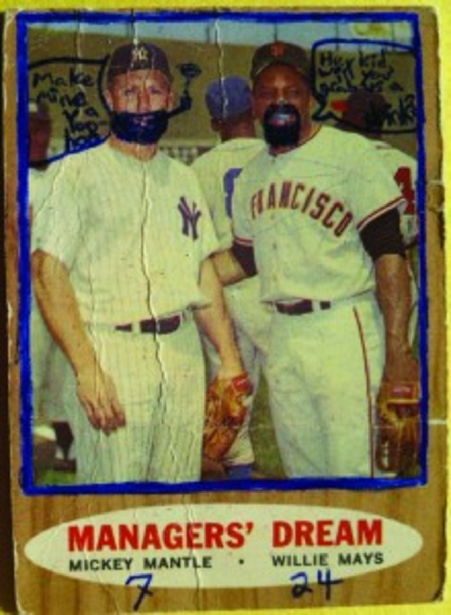 1962 Topps 18 Mickey Mantle, Willie Mays
