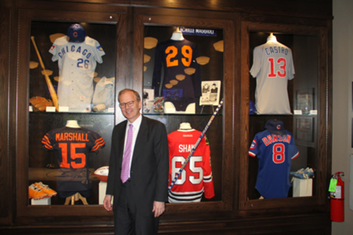 Grant DePorter at the Chicago Sports Museum