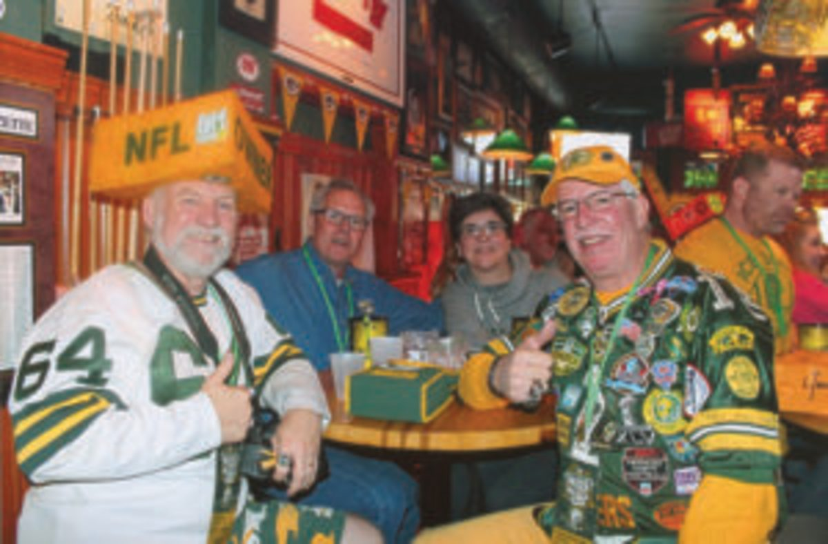 Green Bay Packers fans who attended PackerPalooza in Chicago were not afraid to dress for the occasion.